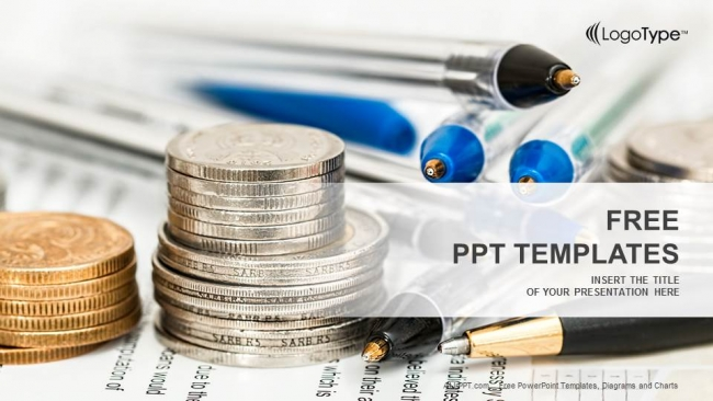 Coins-with-financial-statement-PowerPoint-Templates-PPT