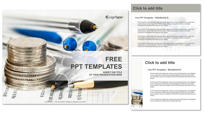 Coins-with-financial-statement-PowerPoint-Templates-Download