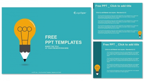 free education symbol bulb ppt templates – free-powerpoint, Powerpoint templates