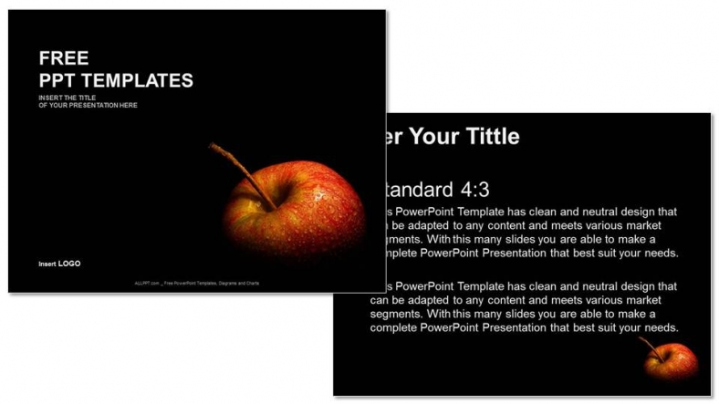 Free flesh apple food ppt templates free powerpoint templates flesh apple food ppt templates toneelgroepblik Images