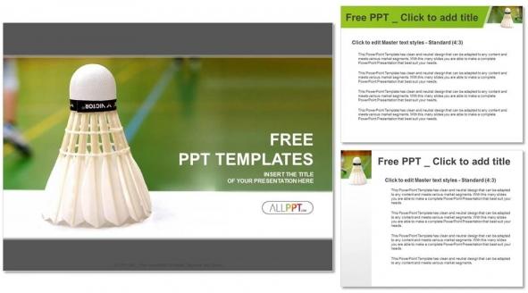 Free Shuttlecock badminton PowerPoint Templates