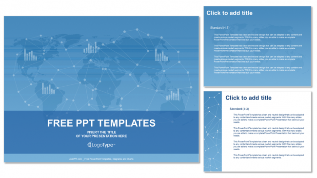 free world map business ppt templates – free-powerpoint-templates, Modern powerpoint